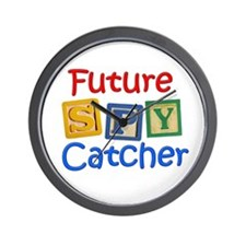 Future Spy Catcher Wall Clock