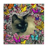 Stella in Butterflies Tile Coaster