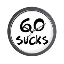 60th birthday 60 sucks Wall Clock