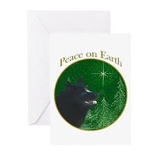 Schipperke Peace Greeting Cards (Pk of 10)