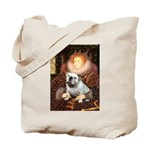 The Queen's English BUlldog Tote Bag