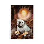 The Queen's English BUlldog Rectangle Magnet