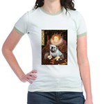 The Queen's English BUlldog Jr. Ringer T-Shirt