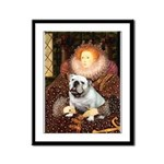 The Queen's English BUlldog Framed Panel Print