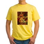 The Path / Two English Bulldogs Yellow T-Shirt