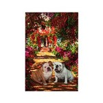 The Path / Two English Bulldogs Rectangle Magnet (