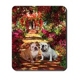 The Path / Two English Bulldogs Mousepad
