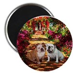 The Path / Two English Bulldogs Magnet