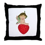 Strawberry Fairy : Throw Pillow