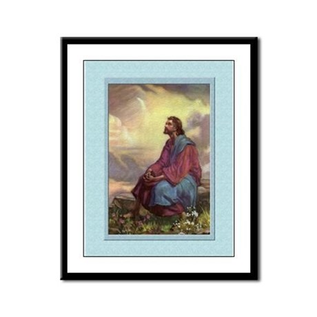 Jesus in the Fields-Unknown-9x12 Framed Print