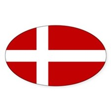 Flag of Denmark Oval Decal