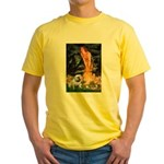 Fairies / English Bulldog Yellow T-Shirt