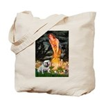 Fairies / English Bulldog Tote Bag