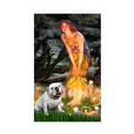 Fairies / English Bulldog Sticker (Rectangle)