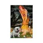 Fairies / English Bulldog Rectangle Magnet