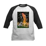 Fairies / English Bulldog Kids Baseball Jersey