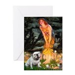 Fairies / English Bulldog Greeting Card