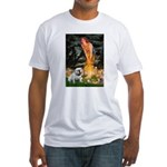 Fairies / English Bulldog Fitted T-Shirt
