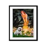 Fairies / English Bulldog Framed Panel Print