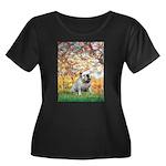 Spring/ English Bulldog (#9) Women's Plus Size Sco