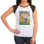 Spring/ English Bulldog (#9) Women's Cap Sleeve T-