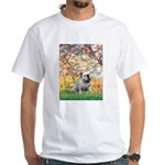 Spring/ English Bulldog (#9) White T-Shirt