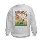 Spring/ English Bulldog (#9) Kids Sweatshirt
