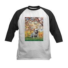Spring/ English Bulldog (#9) Kids Baseball Jersey