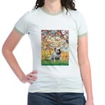 Spring/ English Bulldog (#9) Jr. Ringer T-Shirt