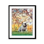 Spring/ English Bulldog (#9) Framed Panel Print
