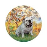 Spring/ English Bulldog (#9) Ornament (Round)