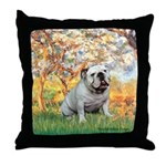 Spring/ English Bulldog (#9) Throw Pillow
