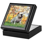 Spring/ English Bulldog (#9) Keepsake Box