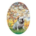 Spring/ English Bulldog (#9) Ornament (Oval)