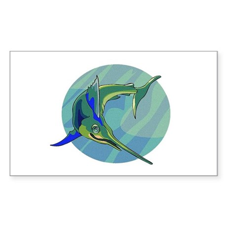 Sailfish Rectangle Sticker