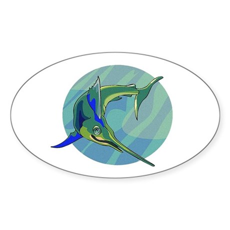 Sailfish Oval Sticker