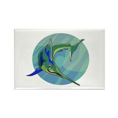 Sailfish Rectangle Magnet
