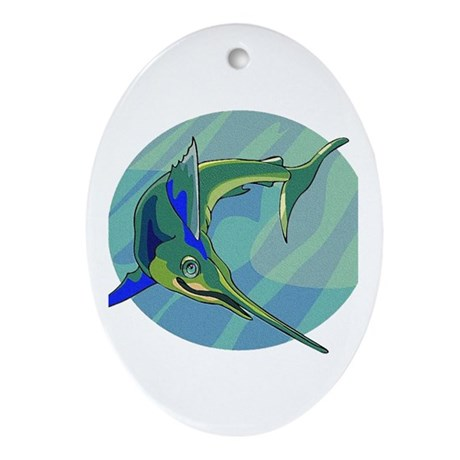 Sailfish Oval Ornament