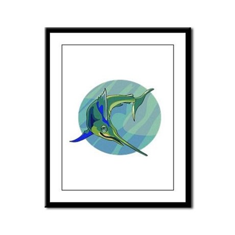 Sailfish Framed Panel Print