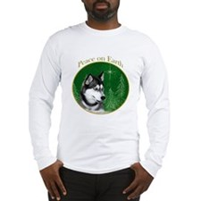 Husky Peace Long Sleeve T-Shirt