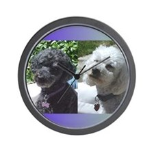 Cute Miniature poodle Wall Clock