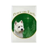 Westie Peace Rectangle Magnet