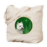 Westie Peace Tote Bag