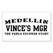 Vince's Mgr - Medellin Rectangle Decal