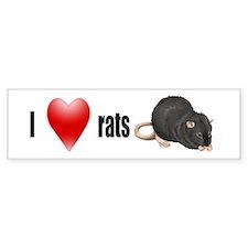 I <3 Rats Bumper Bumper Sticker