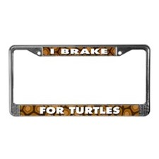 I BREAK FOR TURTLES License Plate Frame
