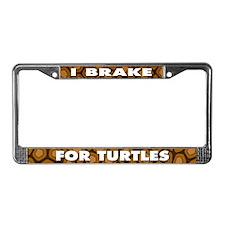 I BREAK FOR TURTLES License Plate Frame