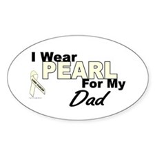 I Wear Pearl 3 (Dad LC) Oval Decal