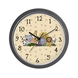 Zoo Animals Wall Clock