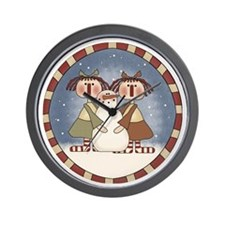 Ragdolls and Snowman Wall Clock